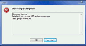 WinSCP error looking up user groups