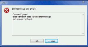 WinSCP error looking up user groups